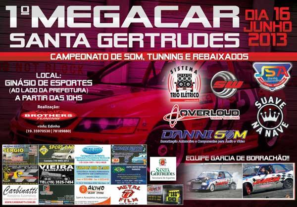 1º Megacar Santa Gertrudes - Junho 2013 - Convite