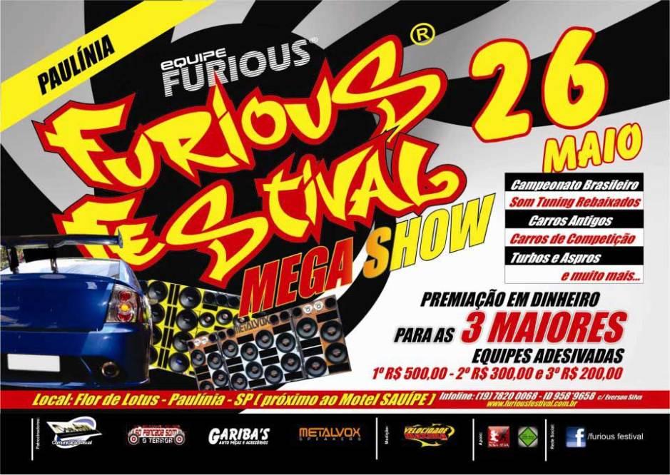 Furious Festival Mega Show - 26 maio 2013 - Convite