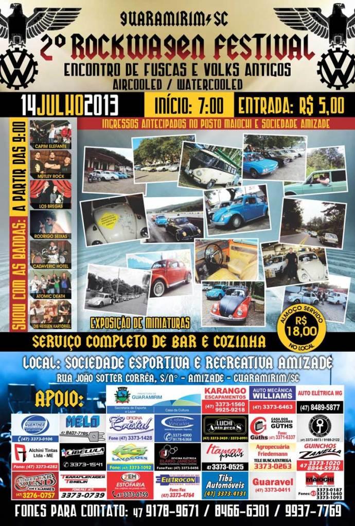 Rockwagen Festival Guaramirim SC - 2a edição 2013 - Convite