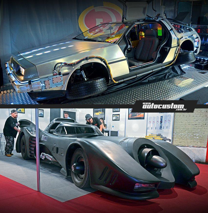Carros do Batman e do De Volta Para o Futuro - Salão do Automóvel 2014