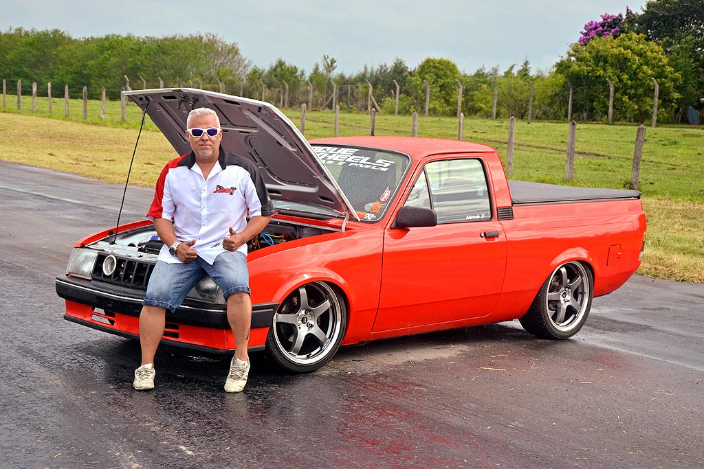 Chevy 500 1991, nova cor, rodas e motor 1.6 Turbo com 340cv