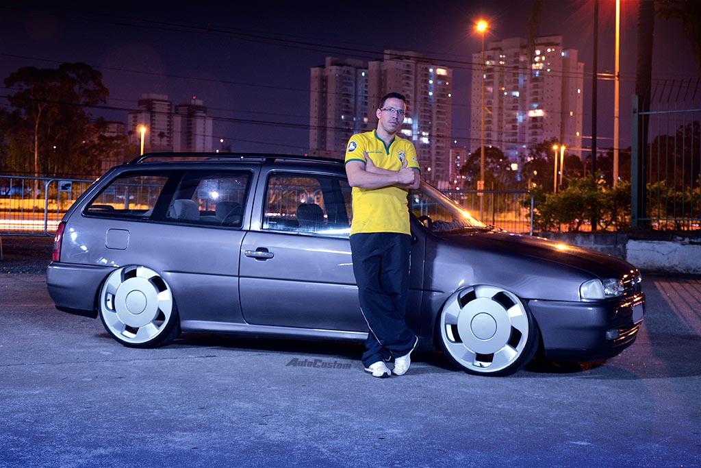 """Parati """"Bola"""" GL 1997 com aro 20 e suspensão fixa"""