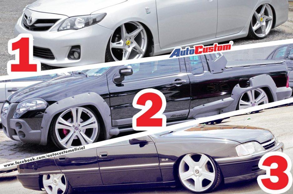 Os carros mais curtidos no Facebook do AutoCustom - Fevereiro 2015