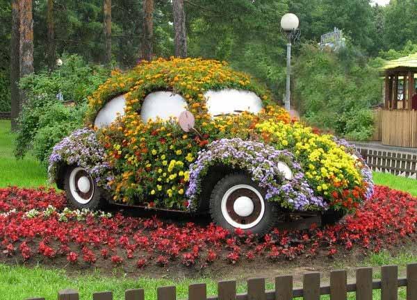 Móveis baseados em automóveis - Fusca Jardim