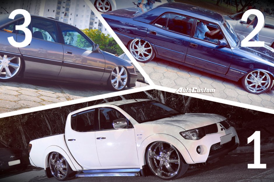 Carros do mês no Facebook do AutoCustom em maio de 2015 - L200, Diplomata e Omega