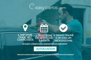 Promoção Easy Carros: 50% de desconto na 1ª Lavagem Ecológica