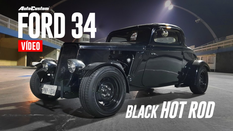 Ford 34 Black Hot Rod