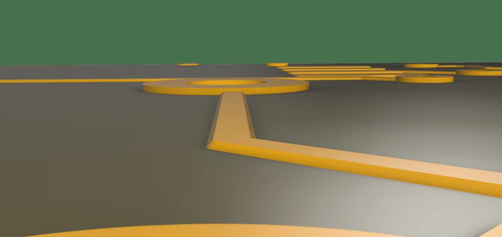 pcb-trace-trapezoidal-shape