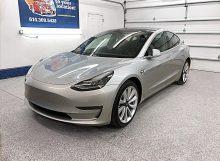 Silver 2018 Tesla Model 3