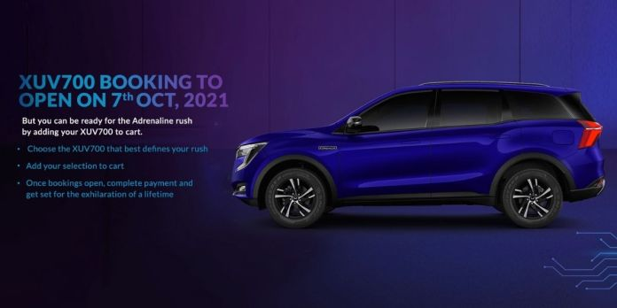 Mahindra XUV700 Bookings To Open On 7th October 2021