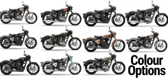 Royal Enfield Classic 350 Color Options