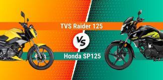 TVS Raider 125 vs Honda SP125