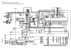 Hitachi EX1205 Service Manual, Operational Principle, Troubleshooting, Circuit Diagram