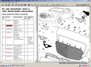 Electronic spare parts catalogue Bentley Continental GT