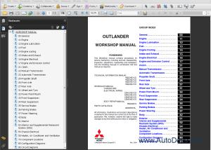Mitsubishi Outlander 2006 repair manual Order & Download