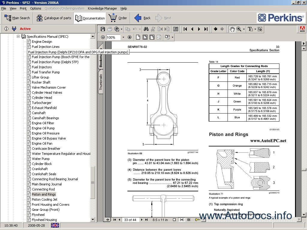 Perkins Spi2 Parts Catalog Repair Manual Order Amp Download