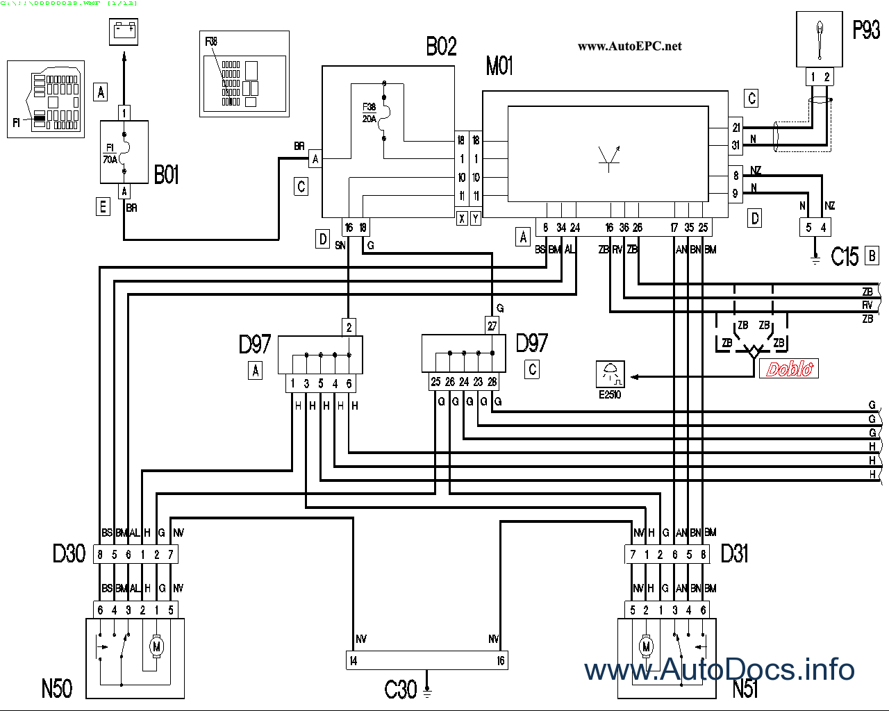 Fiat Doblo Radio Wiring Diagram Explained Diagrams Hisun For Light Switch U2022