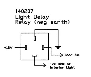 Interior light delay relay