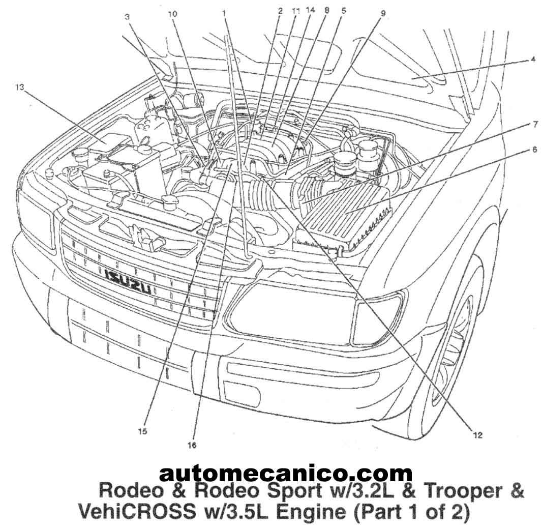 Diagram Isuzu Rodeo Sport Engine Diagram Full Version Hd