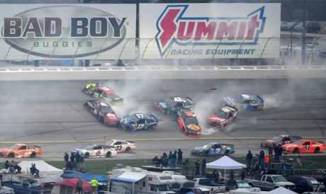 Etapa de Atlanta da Sprint Cup teve mais acidentes (Foto Nascar)