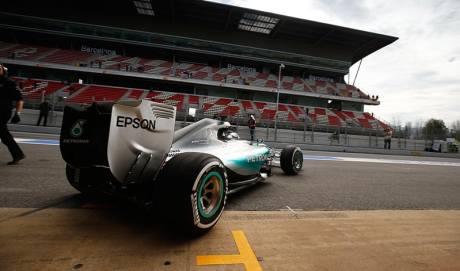 Nico Rosberg: o único a baixar de 1:23 em Barcelona (Foto Mercedes-Benz)