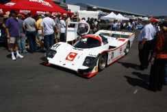 Porsche 962 preparado para entrar na pista