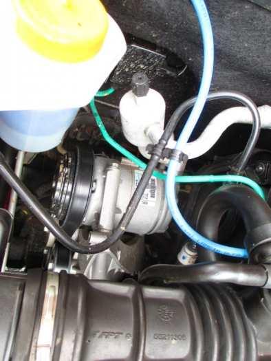Compressor do ar-condicionado bem fácil de mexer