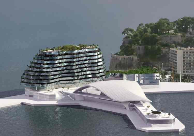 Um museu e um novo edificio de apartamentos luxuosos é outro projeto que pode afetar os próximos GPs em Mønaco (foto Caroli Group)