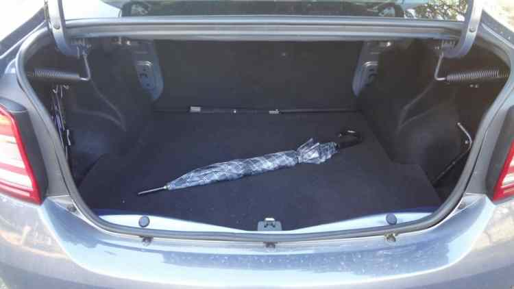 Grande porta-malas. São 510 litros de bagagem