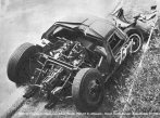 O Lola GT acidentado em 1963