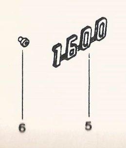 """Detalhe do Catálogo Simplificado de Peças mostrando o que seria o logo """"1600"""""""