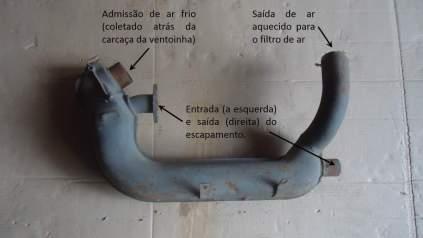 Sistema de aquecimento de ar para os filtros do Fusca e Kombi ((mercadolivre.com.br adaptado pelo autor))