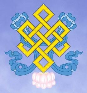 A representação gráfica do nó infinito dos budistas (Foto Wilkepedia)