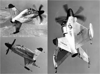 """""""Tailsitters"""", aviões de pouso vertical sobre a causa"""