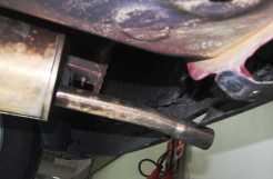 Bolsão formado pelo para-choque traseiro prejudica a aerodinâmica