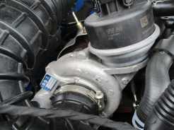 Turbo de baixa pressão em posição alta