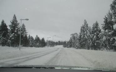 Condições das estradas são excelentes, apesar do clima