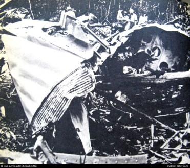 Os escombros do voo PA-202 (Foto: http://aviation-safety.net)