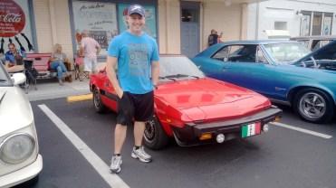 Um Fiat X1/9 em Old Town