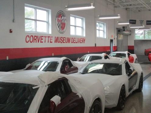 Área de preparação dos carros a serem entregues