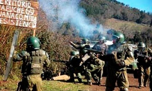 Resultado de imagen para la represión de gendarmeria a los mapuches