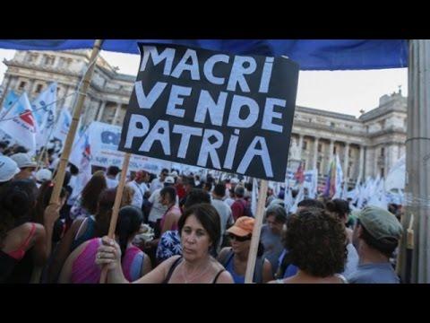 Resultado de imagen para ,manifestaciones contra macri