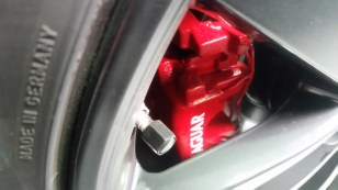 Jag Calipers painted red