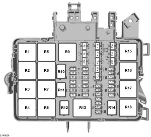 Ford Transit mk8 (from 2015)  fuse box diagram (EU