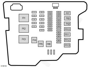 Ford Fiesta (from 2011)  fuse box diagram (India version