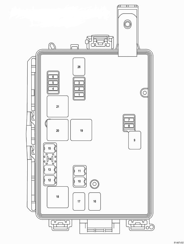 2010 dodge journey interior fuse box location