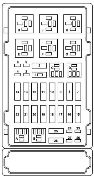 Ford ESeries E150 (2008) – fuse box diagram  Auto Genius