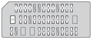 Toyota 4Runner (2010  2012)  fuse box diagram  Auto Genius
