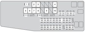 Toyota Camry (from 2012)  fuse box diagram  Auto Genius