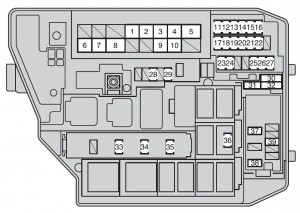 Toyota Corolla (2009  2012)  fuse box diagram  Auto Genius